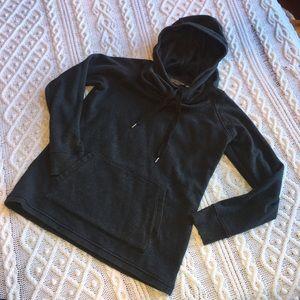 Athleta COZY Velour Lined Hoodie w Pocket Sz M